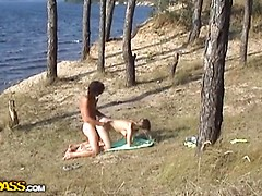Couple in sex outdoor